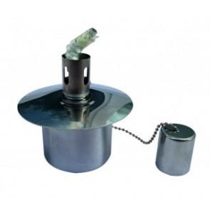 Olielampe 50x45x80 mm - Rustfri stål  - KI-OEL2