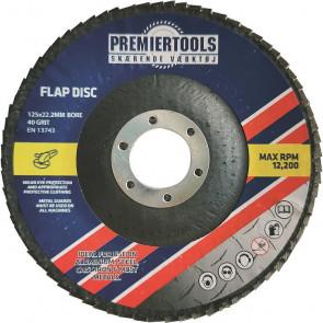 Flapskive 125x22,23mm K60 til stål - 10 stk. - PR125060