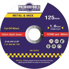 Skæreskive 125x1,0x22,23mm til stål - 25 stk. - PR12510