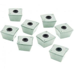 Record Ekstra knopper firkantet i sæt (til bakkesæt til skåle 62356 & 62377) - REC62838