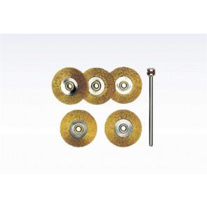 Proxxon Messingbørster Ø 22mm 5 stk. - ROL-28962