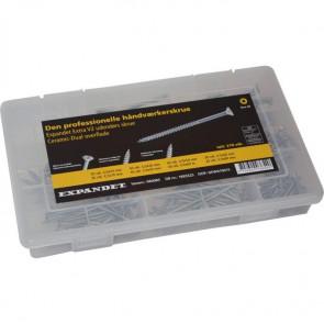 Expandet Udendørs skruesortiment Extra V2 - 270 dele - SE-960085