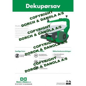 Sikkerhedsplanche dekupørsav - SIK.DEK
