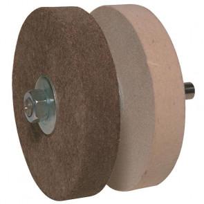 Stubai polersæt - 2 filtkiver på aksel Ø 125 mm - ST-537001