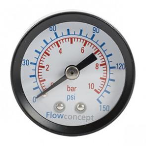 """TJEP Manometer ø40, 0-10 bar 1/8"""""""