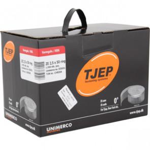 TJEP ZE25/50 Ringsøm varmgalv., Full head. Box 1.950 pcs. - TJ835051