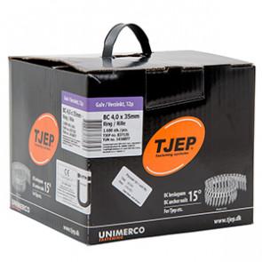 TJEP BC40/35 kamsøm elgalv., Full head. Box 1.600 pcs. TJ837135
