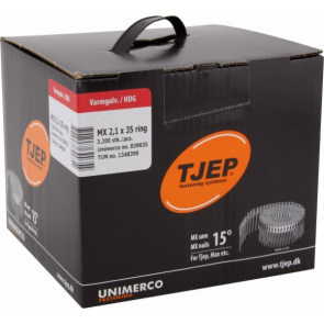 TJEP MX21/35 ringsøm varmgalv., Full head. Box 3.200 pcs. - TJ839035