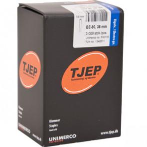 TJEP BE-90 klammer 35mm, m/lim. Elgalv. 3.000 stk. - TJ840135