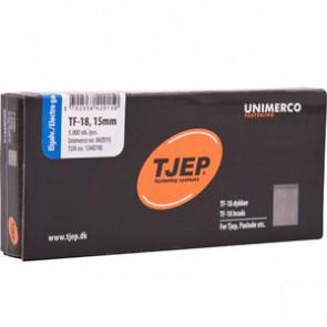 TJEP TF18 stifter 15mm, Elgalvaniseret. 5.000 stk. - TJ842015