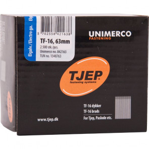 TJEP TF16 63mm dykker , Elgalvaniseret. Box 2.500 stk. - TJ842163