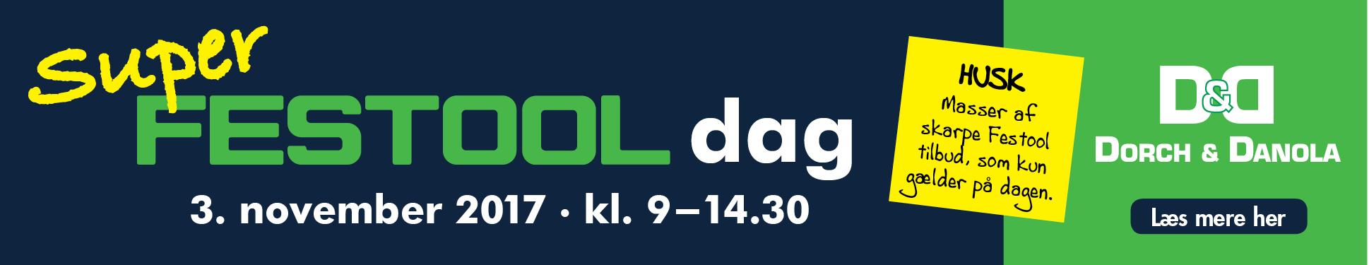 Super Festool dag banner