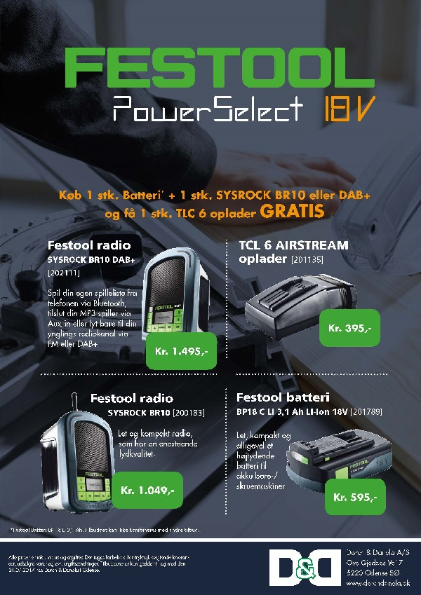 Festool kampagne PowerSelect 18V