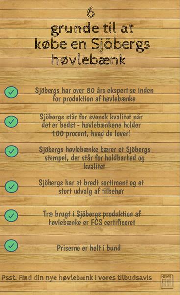 nfographic - Derfor skal du vælge en Sjöbergshøvlebænk